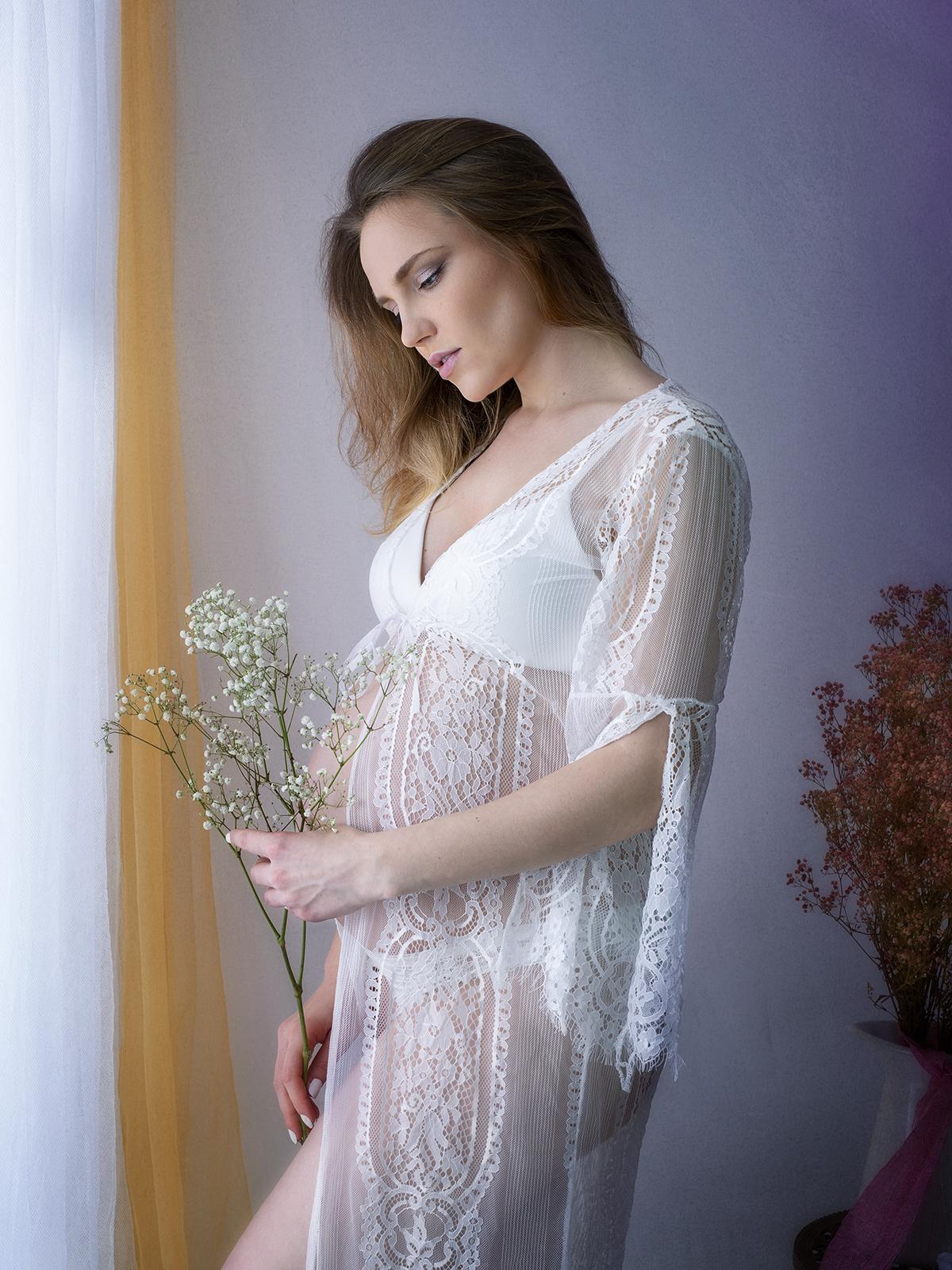 Premamá estilo boudoir valencia